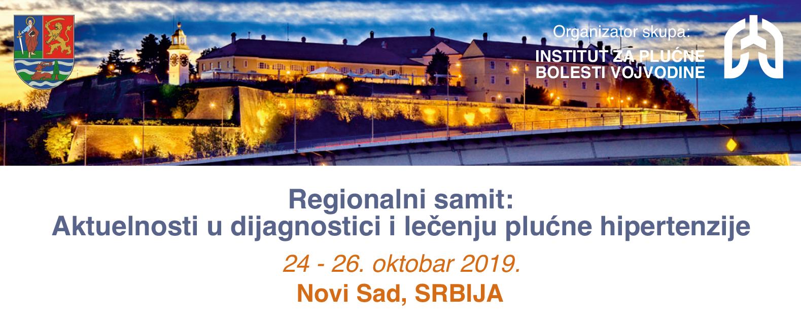 Regionalni samit: Aktuelnosti u dijagnostici i lečenju plućne hipertenzije, Oktobar – 2019