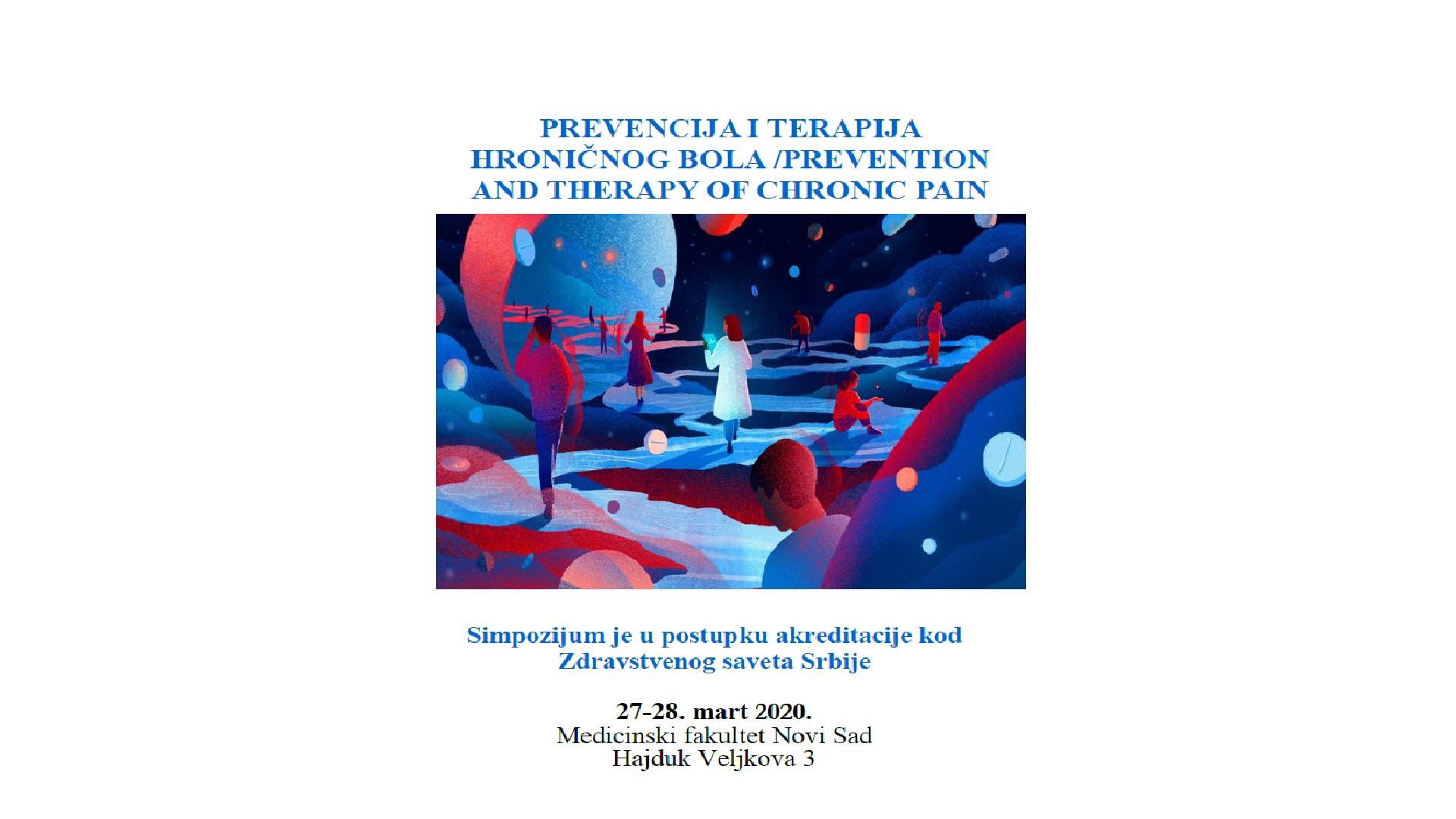 PREVENCIJA I TERAPIJA HRONIČNOG BOLA / 02-03 Oktobar 2020, Novi Sad